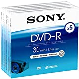 Sony DMR 30 DVD-R für DVD-Camcorder 30 Minuten 5er-Pack