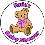 Decoración para tarta de baby shower, redondo, círculo de 20 cm, diseño de oso de peluche