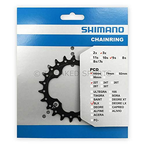 Shimano FC-M660 SLX Chainring (64x22T 9 Speed), 64x22T 9 Speed