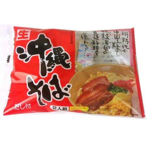 サン食品 沖縄そば2人前 袋入 赤(だし付) [生麺] 101513×1袋