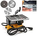 anmas rucci Mini Portable Table Saw for DIY Handmade Wooden Model Crafts, Metal