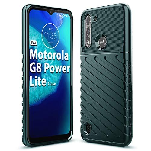 Sucnakp Moto G8 Power Lite Case Motorola G8 Power Lite Case Shock Absorption Anti Scratch Heavy Duty Durable Drop Protection Cell Phone Cover for Motorola Moto G8 Power Lite(LT Dark Green)