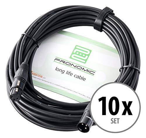 Pronomic Stage XFXM-10 cavo microfono XLR 10 m nero set 10 pezzi