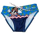 Disney Costume Topolino Pirata Mare Bambino Mickey Mouse Originale Slip Bagno da 3 Anni a 8 Anni (6 Anni)