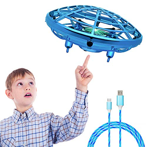 Hand Operated Drones for Kids Mini Flying Drone with Shinning LED Lights UFO Flying Ball Toy Gifts for Boys and Girls Motion Sensor Helicopter Outdoor and Indoor