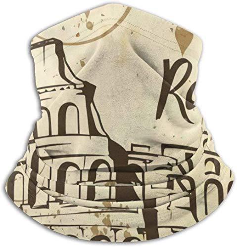 Wohenhao Rome Colosseum Mikrofaser Halswärmer Mode Kopfbedeckung Gesicht Schal Sturmhauben für Männer Frauen