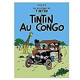Tim und Struppi Poster: Tintin au Congo 22010 (70x50cm)