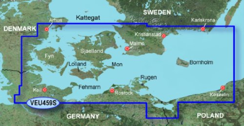 Garmin BlueChart g3 Vision Seekarte Region Europa, Abdeckungsbereich VEU459S - Arhus Kiel Koszalin, Kartengröße Small
