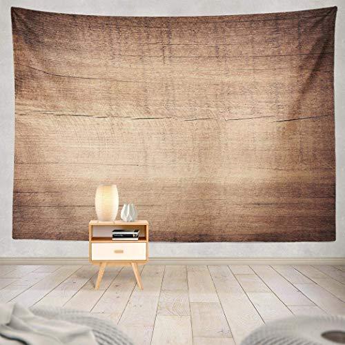 Duanrest Wandteppich,Holz, braun verkratzt Holzplatte Holz Textur, Holz Wandteppich für zu Hause 229x152cm