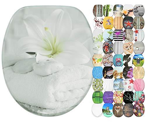 WC Sitz mit Absenkautomatik, große Auswahl, schöne Motive, hochwertige und stabile Qualität aus Holz (Good Feeling)