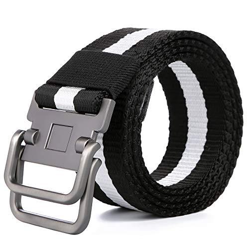 SBORT cintura,Ideale per jeans e abbigliamento casual e formale,Tela, gioventù, armatura, nero, 125 cm