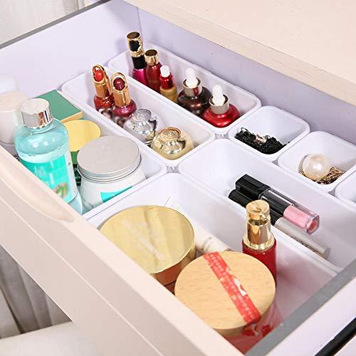 RHG Bandejas organizadoras, caja organizadora multiusos, caja de escritorio, cajón, bandeja organizadora, bandeja para cubiertos, cosméticos, caja de papelería, cajones de almacenamiento, separadores de cajón, cocina, cuarto de baño, armario de escritorio