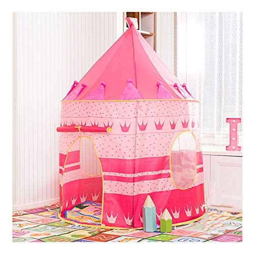 YOUCAI Baby Toddler Play Tent Indoor and Outdoor Castle House Palace Playhouse Portable Cartoon Pop Up Play Teepee For Boys Girls Foldable Children Play Tent Pink One Size