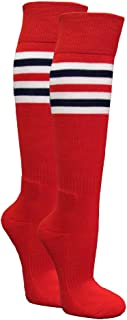 Couver Premium Like Cardinals Similiar Style Striped Tube Knee High Sport Socks