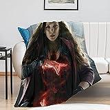 DYTH Wanda Maximoff Manta – Pop Art – Oversize Warm – Super Soft – Franela suave – 100 cm × 130 cm