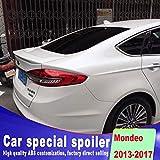 XTT Adecuado para Ford Mondeo 2013-2017 ABS Trasero alerón, alerones Traseros de Coches, la Tapa Trasera del Cargador del Tronco Spoiler, Blanca