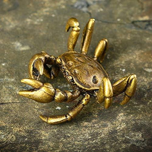 YGAKX Pure trend rank Copper Solid Lukcy Crab Ac Sculpture Tea store Pet Ornament
