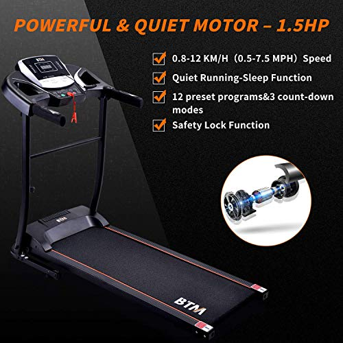 BTM W501 Electric Folding Treadmill