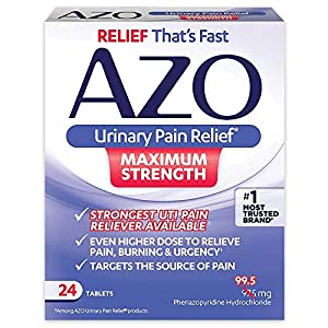 FAST OVER-THE-COUNTER UTI SYMPTOM RELIEF AZO Urinary Pain Relief relieves pain, burning and urgency in as little as 20 minutes. Unlike general pain relievers, it is specifically formulated to address UTI pain and discomfort #1 CHOICE Phenazopyridine ...