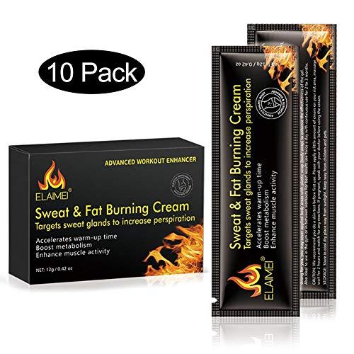 10 Packungen Fettverbrennungscreme, Fettverbrennung thermogene Fettverbrennercreme, Bauchmuskelcreme Fettverbrenner Cellulite Cremes Muskeln anziehen, für Männer und Frauen