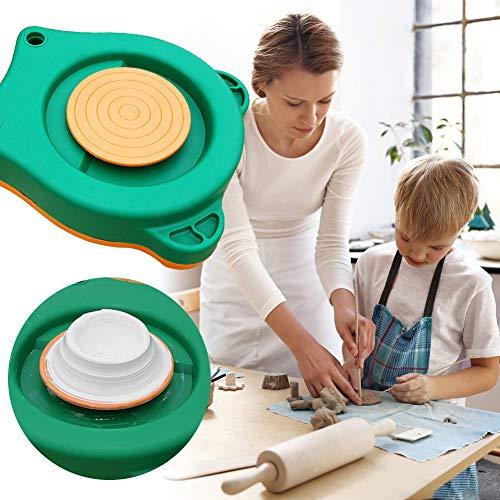 Bespick Rueda de cerámica eléctrica de 13 cm para niños principiantes, kits de artesanía para máquinas de cerámica de cerámica, máquina de ruedas de cerámica Easy Spin