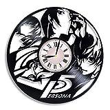 Persona 5 Vinyl Record Wall Clock, Persona 5 Video Game, Persona 5 P-Studio, Persona 5 Game, Persona 5 Artwork, Persona 5 Gift, Persona 5 Clock, Persona 5 Wall Decor, Gift for Gamer