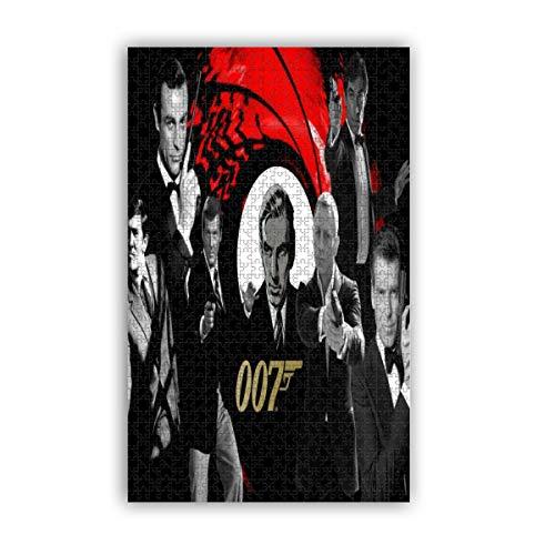 James Bond 007 rompecabezas de pintura clásica 1000 piezas decoración del hogar decoración de pared juego alivio del estrés para adultos niños