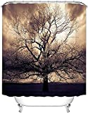 Duschvorhänge Sepia Tree Duschvorhänge Für Badezimmer Mysterious Fantasy Forest Wasserdichter Stoffvorhang Mit 12 Haken Dekorationen