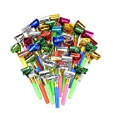 Siumir 100 x Blowouts Noisemakers - Funny Party Blowouts Blowers for kids, Assorted Color