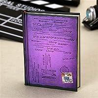 学生レトロハードカバー紙ノートブックビンテージ個人日記ジャーナルアジェンダプランナー文房具ギフト在庫スクール用品 (Color : Purple, Size : 6 books)
