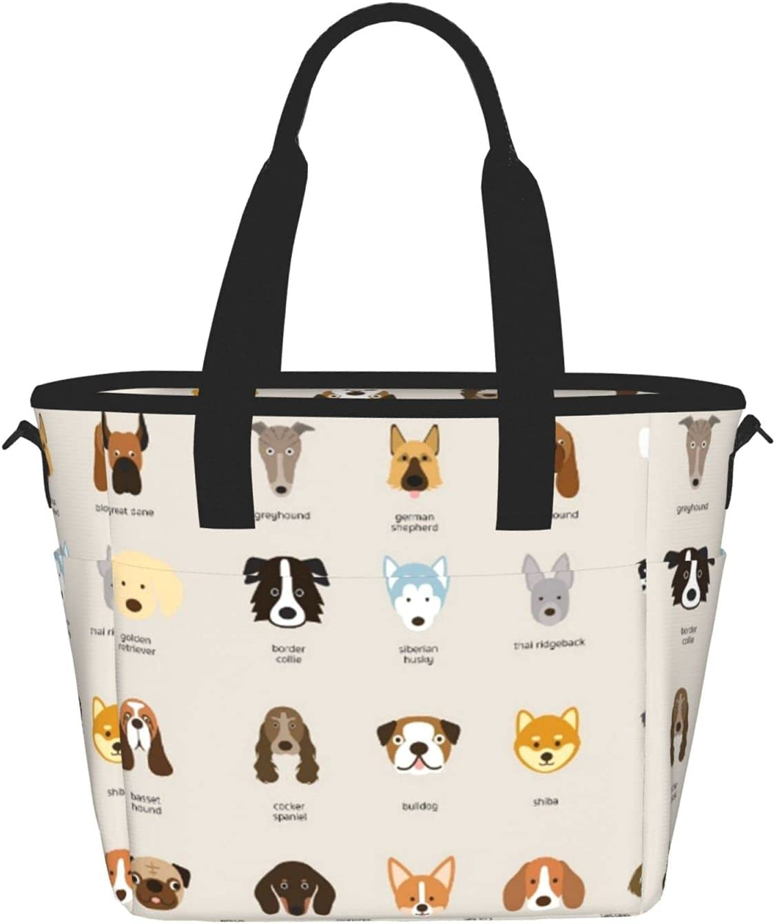 Dog Sale Breedprinting Women'S specialty shop Lunch Bag Meal Fashion Portable Lu