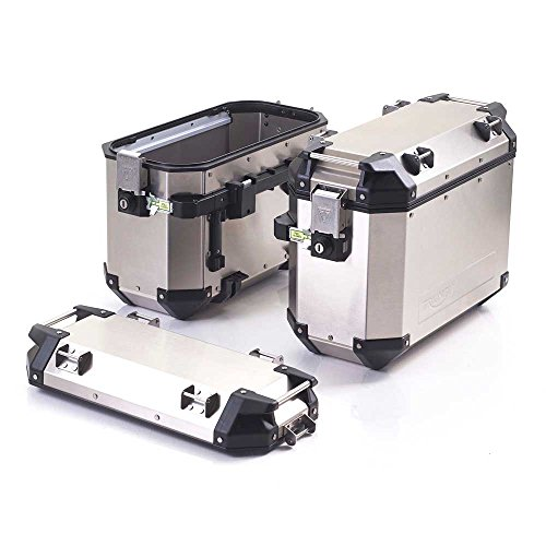 Triumph Expedition Silver Aluminum Panniers Tiger Saddlebags -  A9500600