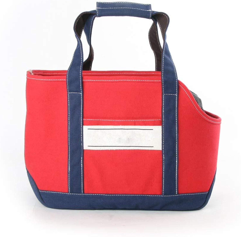 AYCC Pet Dog Cat Bag Soft And Comfortable Doublesided Bag Shoulder Carrying Handbag Dog Hiking Backpack,Red