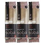 Hakubaku [ 3 Packs ] Organic Soba Noodles Japanese Buckwheat Noodles (no salt added) 9.5-Ounce