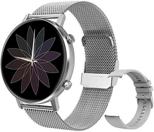TYUI Reloj inteligente de 1,3 pulgadas para hombres y mujeres, modo multideportivo, monitoreo de frecuencia cardíaca y presión arterial, compatible con teléfonos Android e iOS-A