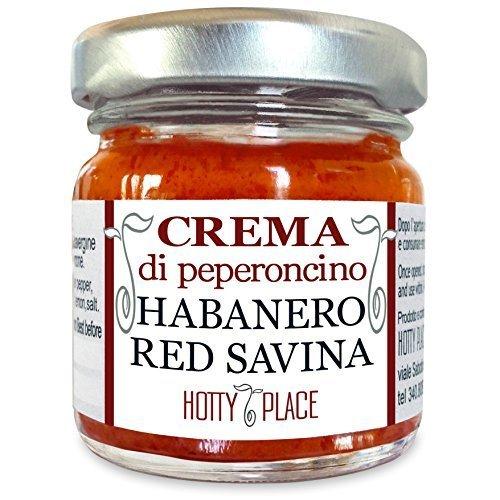 Crema HABANERO RED SAVINA Peperoncino Piccante MEDIO - Il Piu' Piccante tra gli Habanero, saporito 30g