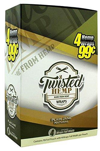 15 pk Twisted Hemp Wrap Plain Jane 4 leaf per pk