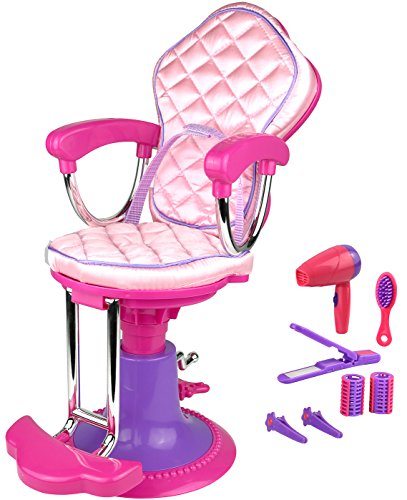 Click n' Play Doll Salon Chair and Accessories. Perfect For 18 inch American Girl Dolls