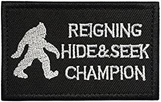 Antrix Bigfoot Reigning Hide and Seek Champion Tactical Military Morale Patch - 3.15