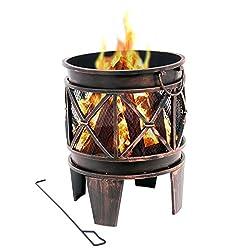 BBQ-Toro Feuerkorb Plum   Ø 42 x 52,5 cm   Feuerschale in Antik-Rost-Optik, Garten Feuerstelle