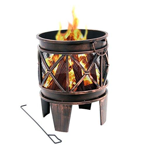 BBQ-Toro Feuerkorb Plum | Ø 42 x 52,5 cm | Feuerschale in Antik-Rost-Optik, Garten Feuerstelle