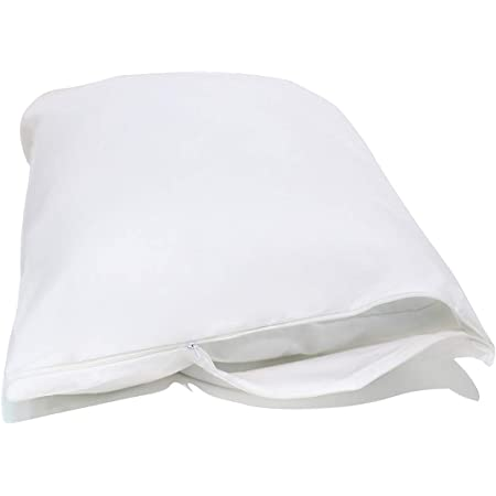 Leo 100/% Anti Allergy Cotton Pillow Protectors Pair Zipped Closing Hotel Quality