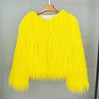 Nobrand TGLAYA Colorful Furry Faux Fur Coat Women Autumn Winter Shaggy Jacket
