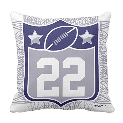 antoipyns Throw Pillow Cover-Navy Cowboys Team Sports Blue Silver Dallas Texas Jerseys Decorative Pillow Case Home Decor Square (18 x 18 Inch) Pillowcase