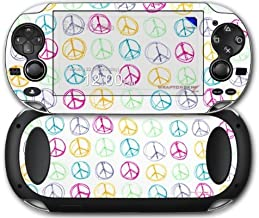 Sony PS Vita Skin Kearas Peace Signs on White by WraptorSkinz by WraptorSkinz