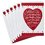 Hallmark Valentines Day Cards Pack, Heart (6 Valentine Cards with Envelopes)