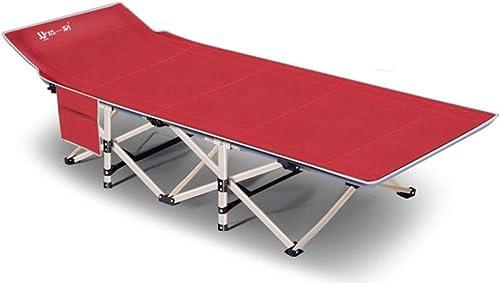 Lit de camping Lit de camping de pêche se pliant ultra-léger dorhommet les meubles d'intérieur de lit de camp portatif de sac à dos Randonnée en plein air ( Couleur   Rouge , Taille   6719035cm )