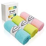 Yiclick Exfoliating Washcloth Towel [3 Pack], Japanese Nylon Exfoliating Bath Wash Cloth for Body Exfoliation, Korean Back Scrubber Washer for Shower, Body Scrub Brush Loofah Exfoliator