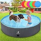 犬用プール バスプール 子供用 耐磨 防水 厚い 夏対策 猫 小型犬 中型犬 お風呂用品 ペット用 バスタブ 収納便利折り畳み持ち運び便利ベビープール排水実用性たらい 大型 おもちゃ