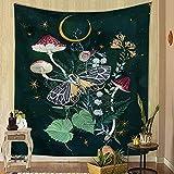 Fondo de flor de mariposa tapiz de tela colgante de pared hogar tapiz de...